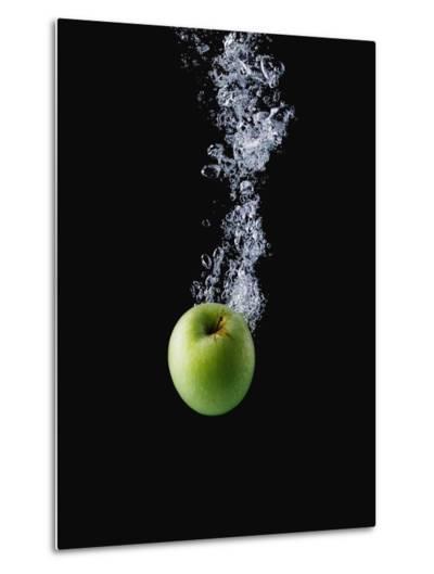 Green Apple in Water-John Smith-Metal Print