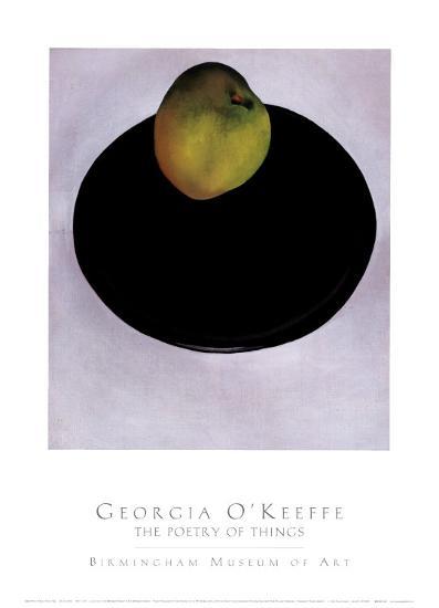 Green Apple on Black Plate, 1922-Georgia O'Keeffe-Art Print