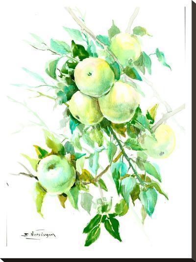 Green Apple Tree 4-Suren Nersisyan-Stretched Canvas Print