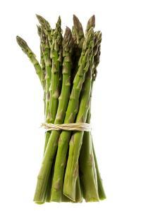 Green Asparagus Spears Tied in Bunch, Ready for Cookin