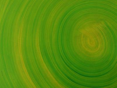 Green Background with Circular Striations--Photographic Print