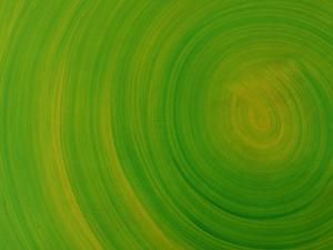 Green Background with Circular Striations