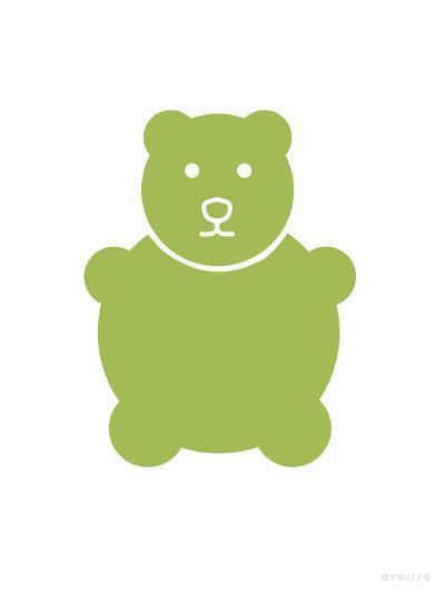 Green Bear-Avalisa-Art Print