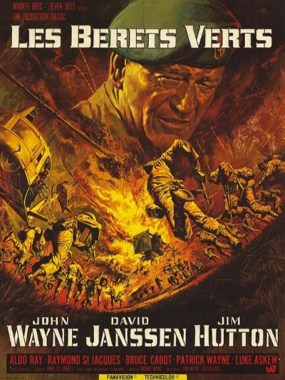 Green Berets, French Movie Poster, 1968--Art Print