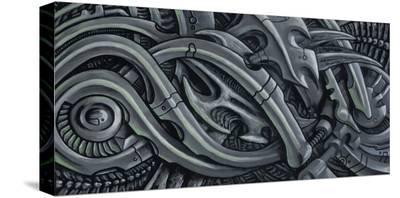 Green Bio- Roman (Artist)-Stretched Canvas Print