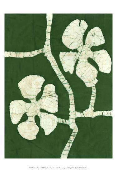 Green Blooms I-Andrea Davis-Art Print