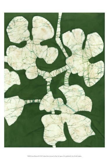 Green Blooms II-Andrea Davis-Art Print