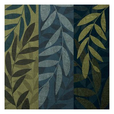 Green Blue 3 panel Mate-Kristin Emery-Art Print