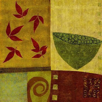 Green Bowl with Nandina Leaves-Doris Mosler-Premium Giclee Print