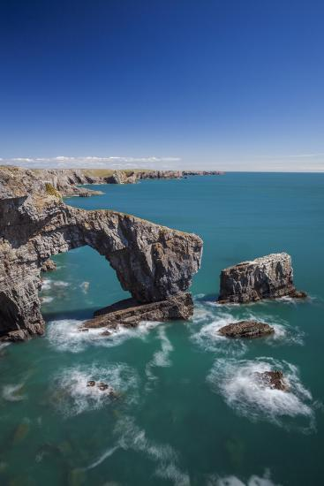 Green Bridge of Wales, Pembrokeshire Coast, Wales, United Kingdom-Billy Stock-Photographic Print