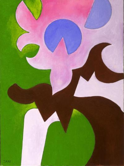 Green-Brown-Rose, 2009-Jan Groneberg-Giclee Print