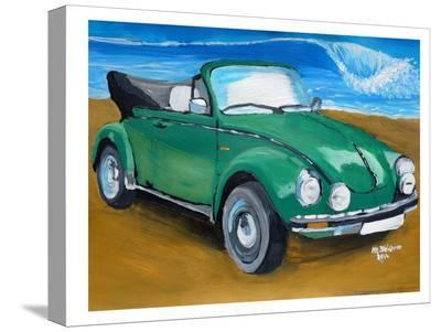 Green Bug At Beach-M Bleichner-Stretched Canvas Print