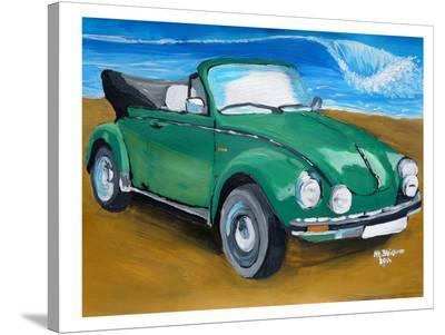 Green Bug At Beach-M Bleichner-Stretched Canvas Print