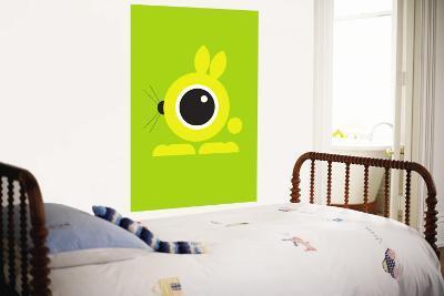Green Bunny Eye-Avalisa-Wall Mural