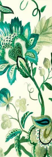 Green Capri Floral II-Lanie Loreth-Premium Giclee Print