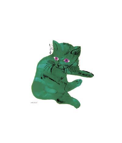 Green Cat, c.1956-Andy Warhol-Giclee Print