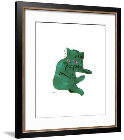 Green Cat, c.1956-Andy Warhol-Framed Giclee Print