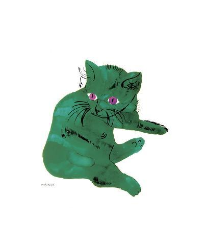 Green Cat, c.1956-Andy Warhol-Giclee Print