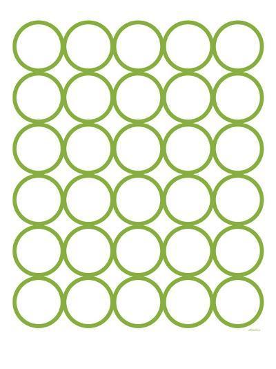 Green Circles-Avalisa-Art Print