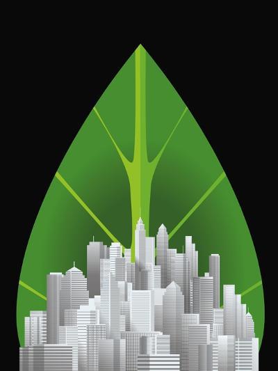 Green City--Giclee Print