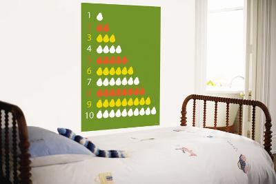 Green Counting Pears-Avalisa-Wall Mural