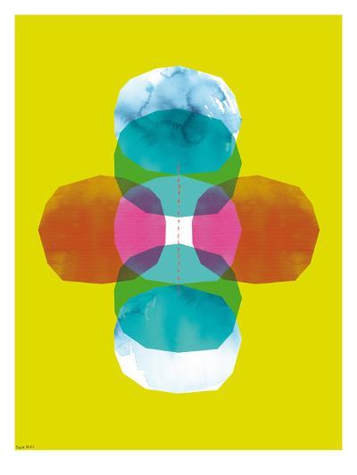 Green Cross Journey Bright-Paula Mills-Art Print