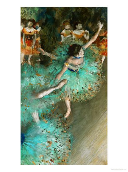 Green Dancer, circa 1880-Edgar Degas-Premium Giclee Print