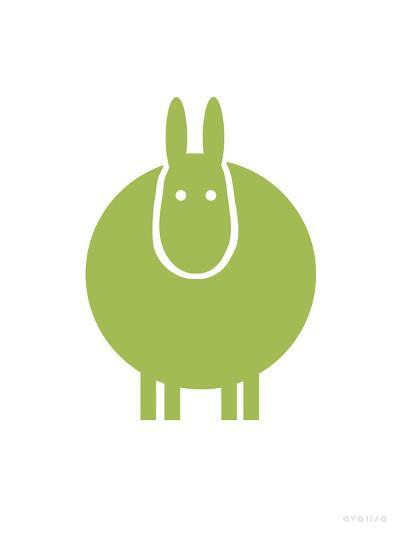 Green Donkey-Avalisa-Art Print