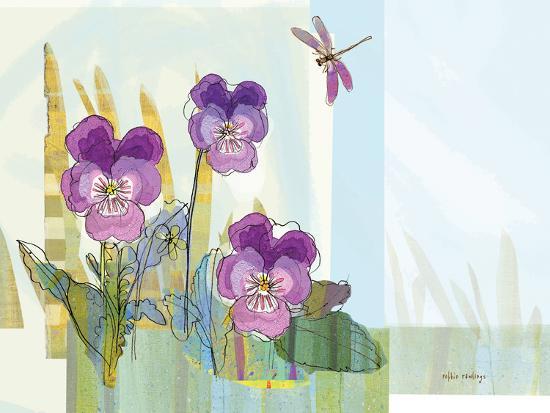 Green Earth Pansie 13-Robbin Rawlings-Art Print