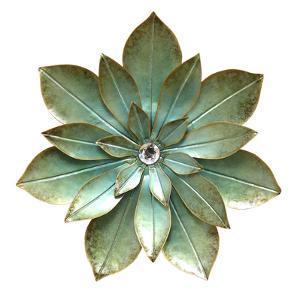 Green Embellished Flower