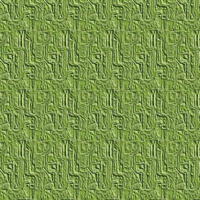 Green Embossed Tile-Ruth Palmer-Art Print
