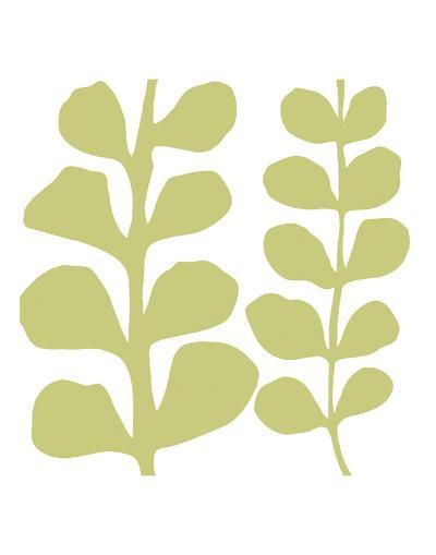 Green Fern on White-Denise Duplock-Art Print
