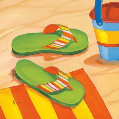 Green Flip Flops-Paul Brent-Art Print