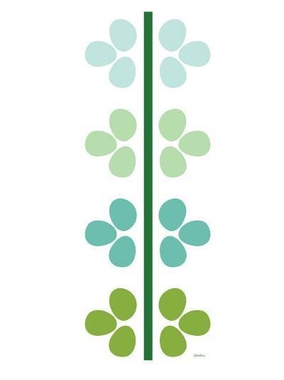 Green Flower Stem-Avalisa-Art Print