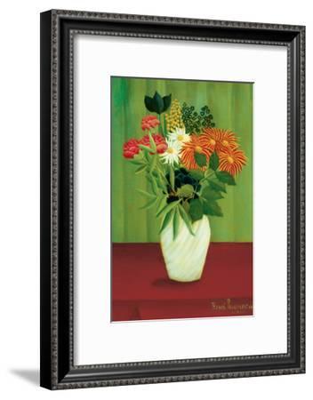 Green Flowers-Henri Rousseau-Framed Premium Giclee Print