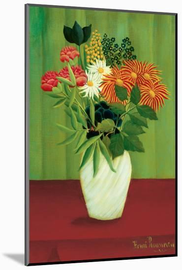 Green Flowers-Henri Rousseau-Mounted Premium Giclee Print