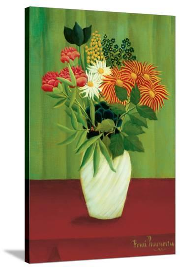 Green Flowers-Henri Rousseau-Stretched Canvas Print