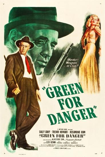 Green for Danger, Alastair Sim, Sally Gray on US poster art, 1946--Art Print