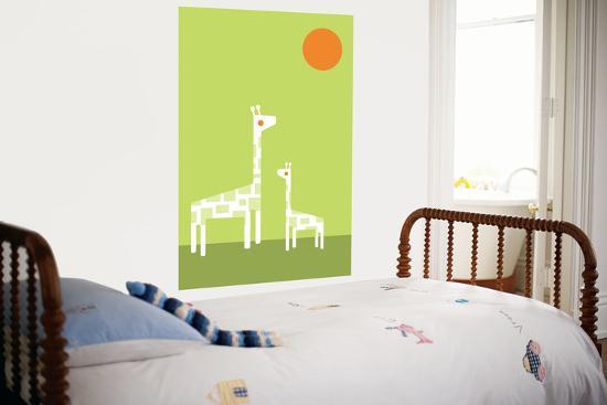 Green Giraffe-Avalisa-Giant Art Print