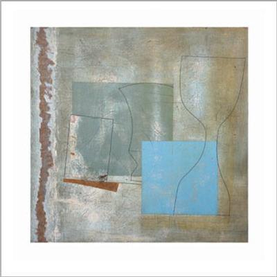 Green Goblet and Blue Square, c.1961-Ben Nicholson-Art Print