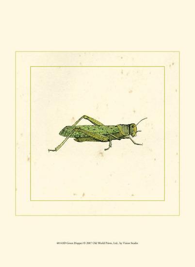 Green Hopper--Art Print