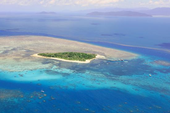 Green Island at Great Barrier Reef near Cairns Australia Seen from Above-dzain-Photographic Print