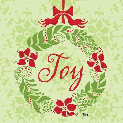 Green Joy Wreath-Teresa Woo-Art Print