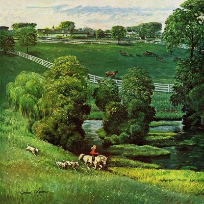 """""""Green Kentucky Pastures,"""" July 29, 1961-John Clymer-Giclee Print"""