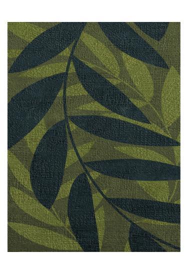 GREEN LEAVES 2-Kristin Emery-Art Print