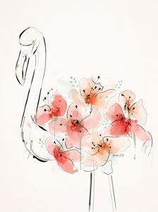 Flamingo Flowers by Green Lili