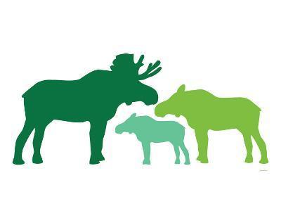 Green Moose-Avalisa-Art Print