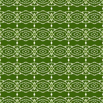Green Native Pattern- weknow-Art Print