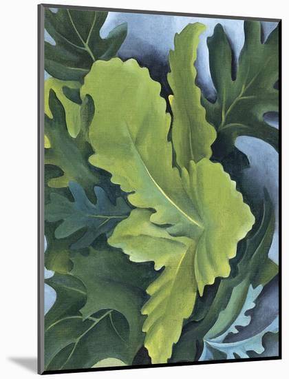 Green Oak Leaves, c.1923-Georgia O'Keeffe-Mounted Print