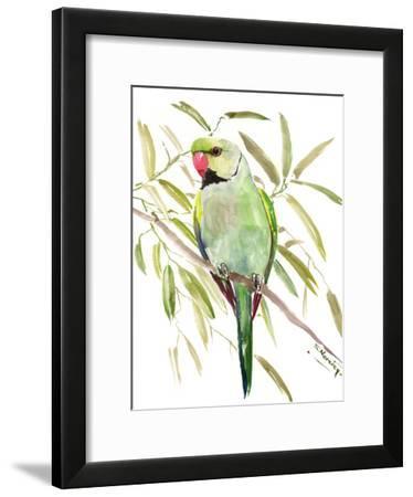 Green Parakeet-Suren Nersisyan-Framed Art Print